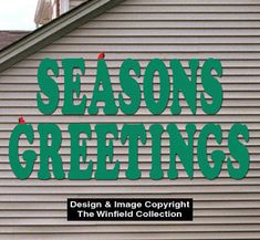Giant Seasons Greeting Woodcraft Pattern