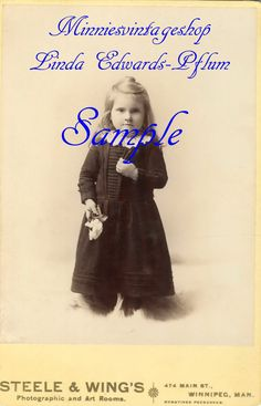 Vintage Photo Cabinet Card Darling Anna from by minniesvintageshop