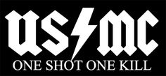 United States Marine Corp. One Shot One Kill Sniper decal sticker.Semper Fi.CLICK IMAGE ABOVE to order your very own.