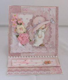 Easel Karte, Klappkarte zu jeden Anlass, handgemacht von KartengalerieDoris auf Etsy Our Love, Decorative Boxes, Frame, Pink, Handmade Birthday Cards, Worth It, Die Cutting, A Frame, Frames