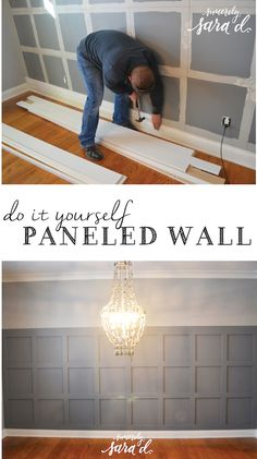 Tutorial for adding square paneling to a wall - love this in the dining room!