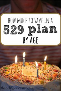 How much you should have in a 529 plan to save for college for your children by age, including high and low contributions for school. via @collegeinvestor