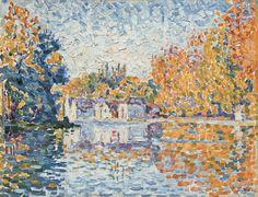 Artist: Paul Signac (1863–1935) · Title: The Seine near Samois  (1912)