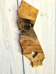 Reclaimed Wood California Sign Wooden California Rustic