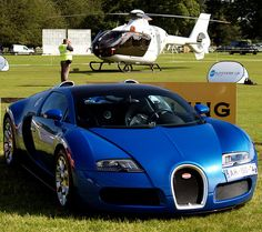 Bugatti Veyron and Hermes Eurocopter,