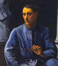 Self Portrait - Achille Funi Italian, 1890-1972 Oil on canvas