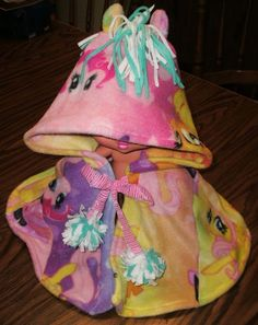 My Little Pony Fleece Hooded Shawl/Cape  One Size #Handmade #Everyday