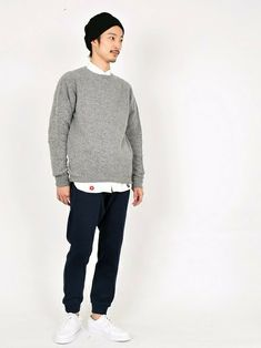 シャツ メンズ 着こなしのニットキャップ/ビーニー「SHIPS JET BLUE JB: ケーブルニットキャップ made in JAPAN 14AW●」を使ったコーディネート Gq Style, Business Outfits, Business Fashion, Korean Fashion Men, Mens Fashion, Muji Style, Normcore Fashion, Smart Casual Work, Fashion Now