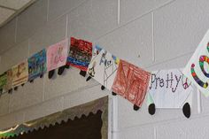All Aboard The Adjective Express - We made this cute adjective train during our Polar Express Day of FUN!