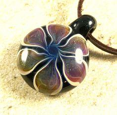 Tropical flower necklace glass beads pendant Handmade custom jewelry Lampwork beads Glass flowers Boro beads by RyanJesseeglass on Etsy https://www.etsy.com/listing/503770625/tropical-flower-necklace-glass-beads