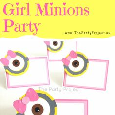Girls power! Join the Minions and throw an unforgettable PINK Despicable Me inspired birthday or baby shower with these exclusive handmade Minions Party Supplies and unique Girl Minions party ideas! Visit out blog for more themed parties inspirations!