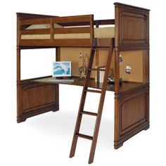 Classics Wood Loft Bed by Lea Furniture   Solid Wooden Complete Loft Bed Desk Study