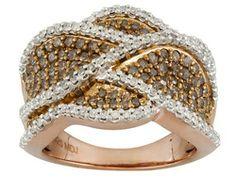 Pamela McCoy Diamonds(Tm) 1.50ctw Round Diamond Rose Gold Ring!