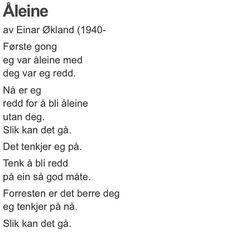 Masse nydelige dikt fra @renpoesi #einarøkland