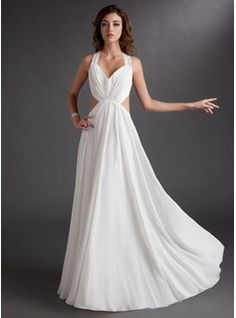 Special Occasion Dresses - $133.99 - A-Line/Princess Sweetheart Floor-Length Chiffon Evening Dress With Ruffle  http://www.dressfirst.com