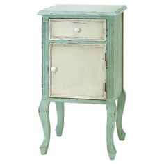 One-drawer nightstand with a lower cabinet and cabriole legs.      Product: NightstandConstruction Material: W...