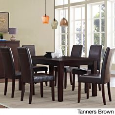 Wyndenhall Normandy Large 7-piece Dining Set (Brown), Size 7-Piece Sets