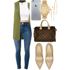 A fashion look from August 2015 featuring H&M tops, Frame Denim jeans and Forever 21 panties. Browse and shop related looks.