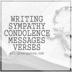 Write Sympathy Condolence Messages