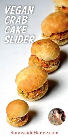 """Vegan """"Crab"""" Cake Sliders"""