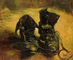 Vincent van Gogh A Pair of Shoes, 1886. I love this painting. Old boots so lovingly painted.
