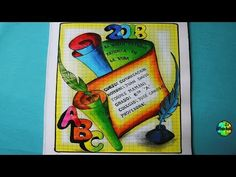 Como Dibujar Carátulas para el cole 2018 - dibujos para caratulas - YouTube Front Page Design, Page Borders Design, Border Design, Class Art Projects, Computer Projects, English Stories For Kids, Page Decoration, Doodle Borders, Ocean Wallpaper