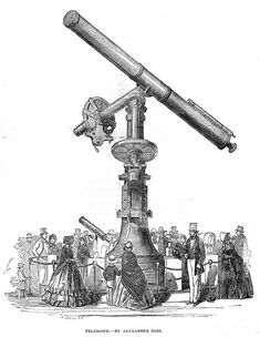GREAT EXHIBITION Crystal Palace; Telescope by Alexander Ross -Antique Print 1851 | eBay