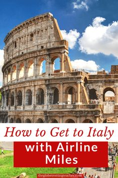How to Fly to Italy with Miles and Points - Is Italy on your travel bucket list but not sure how to get there without spending a lot on flights? Use this guide for step-by-step ways to use your airline miles to get to Italy! Tickets To Italy, Flights To Rome, First Class Flights, Travel Rewards, Visit Italy, Le Point, Train Travel, Guide, Holiday Travel