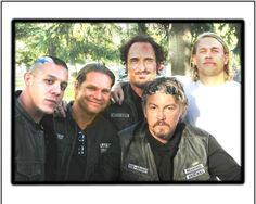 Theo Rossi Work   Still of Brian Graham with Theo Rossi, Kim Coates, Tommy Flanagan, and ...