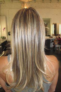Sandy blonde hair colour