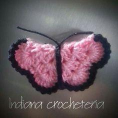 Ímã  de geladeira borboleta.  Encomendas pelo  Instagram Indiana_crocheteria  Página no Facebook indianacrocheteria @indianacrocheemgeral