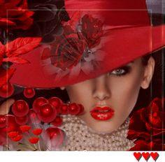 ..яркая осень. Beautiful Good Night Images, Beautiful Gif, Gif Bonito, Animated Love Images, Red Hat Ladies, Red Images, Valentine Images, Red Photography, Girls With Flowers