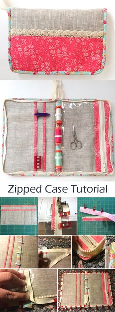 Zipped Sewing Travel Case Tutorial.   http://www.free-tutorial.net/2017/09/zipped-case-tutorial.html