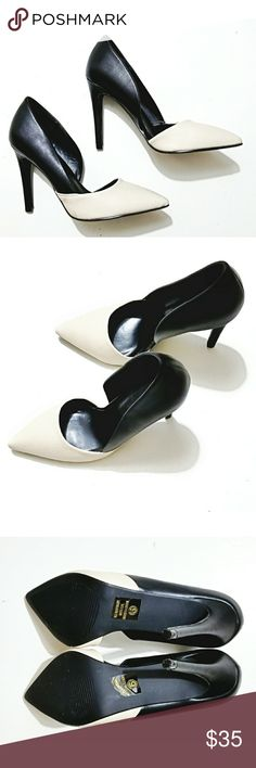 Charlotte Russe Black and Cream heels NWOB size 6 These black & cream heels by Charlotte Russe are classic with a twist.   Perfect day to night shoes! NWT no box. Charlotte Russe Shoes Heels