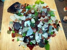 Botanical Beach, Port Renfrew, BC Sea Glass: ~ By: Mary - Victoria, BC, Canada  Day trip to Botanical Beach on Vancouver Island and never expected to find this much sea glass ;)    See also this