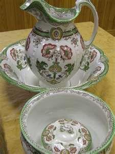 victorian edwardian wash set comprising wash bowl and ewer chamber pot ...