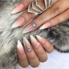 Beautiful nails by @loveeffectnails Shop for featured Swarovski crystals at DailyCharme.com!