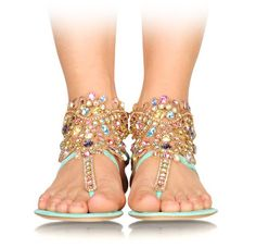 Bejeweled sandals by René Caovilla