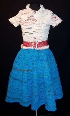 1950s Outfit Knit From Old Plastic Bags #art #design trendhunter.com