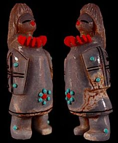 Claudia Peina   Angelite    Zuni Maiden     Price: $180. +   shipping   Texas sales tax applies to Texas Residents!   CLICK  IMAGE for more views & information.   Authentic Zuni fetishes direct from Zuni Pueblo to YOU from Zunispirits.com!