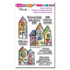 Family Home Perfectly Clear Rubber Stamps