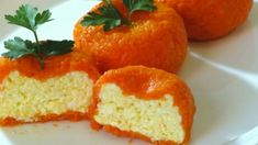 Новогодняя сырная закуска «мандаринки» — красиво и вкусно