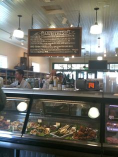 Welcome back Oakville Grocery! ~ The salad counter & order your sandwiches here! We LOVED the roast beef.  It was SO good!  my #napa valley vacation