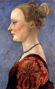 1475: Portrait of a lady, by Antonio del Pollaiuolo
