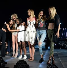 Taylor performed Style with special guests Gigi Hadid, Uzo Aduba, Lily Aldridge, Karlie Kloss, Candice Swanepoel, Martha Hunt, and Behati Prinsloo during the 1989 World Tour in East Rutherford night two! 7.11.15