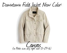 """""""Downtown Field Jacket Item 05364 in Canvas"""" by justvisiting ❤ liked on Polyvore featuring women's clothing, women, female, woman, misses and juniors"""