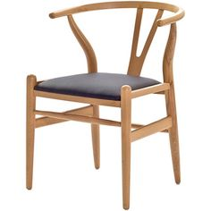 @Overstock - This dining chair features traditional wood and is paired with a modern design, resulting in a unique piece for your home. The frame consists of solid wood with a natural finish, a comfortably-curved backrest, and sturdy seat.http://www.overstock.com/Home-Garden/Hans-Wegner-Wishbone-Chair-with-Leatherette-Seat/6672841/product.html?CID=214117 $199.99
