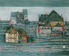 Egon Schiele: Vorstadt I.; 1914 Egon Schiele Artist : More At FOSTERGINGER @  Pinterest