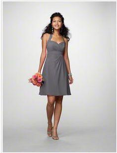 gray bridesmaid dress@ Cody St. Clair this would look really cute!