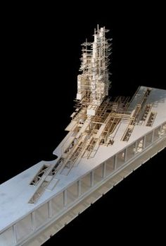 Kamagasaki Union for the Nishinari District, Osaka, Japan by Ben Hayes Bartlett School Of Architecture, Architecture Model Making, Paper Architecture, Architecture Drawings, Futuristic Architecture, Interior Architecture, Scale Models, 3d Models, Arch Model